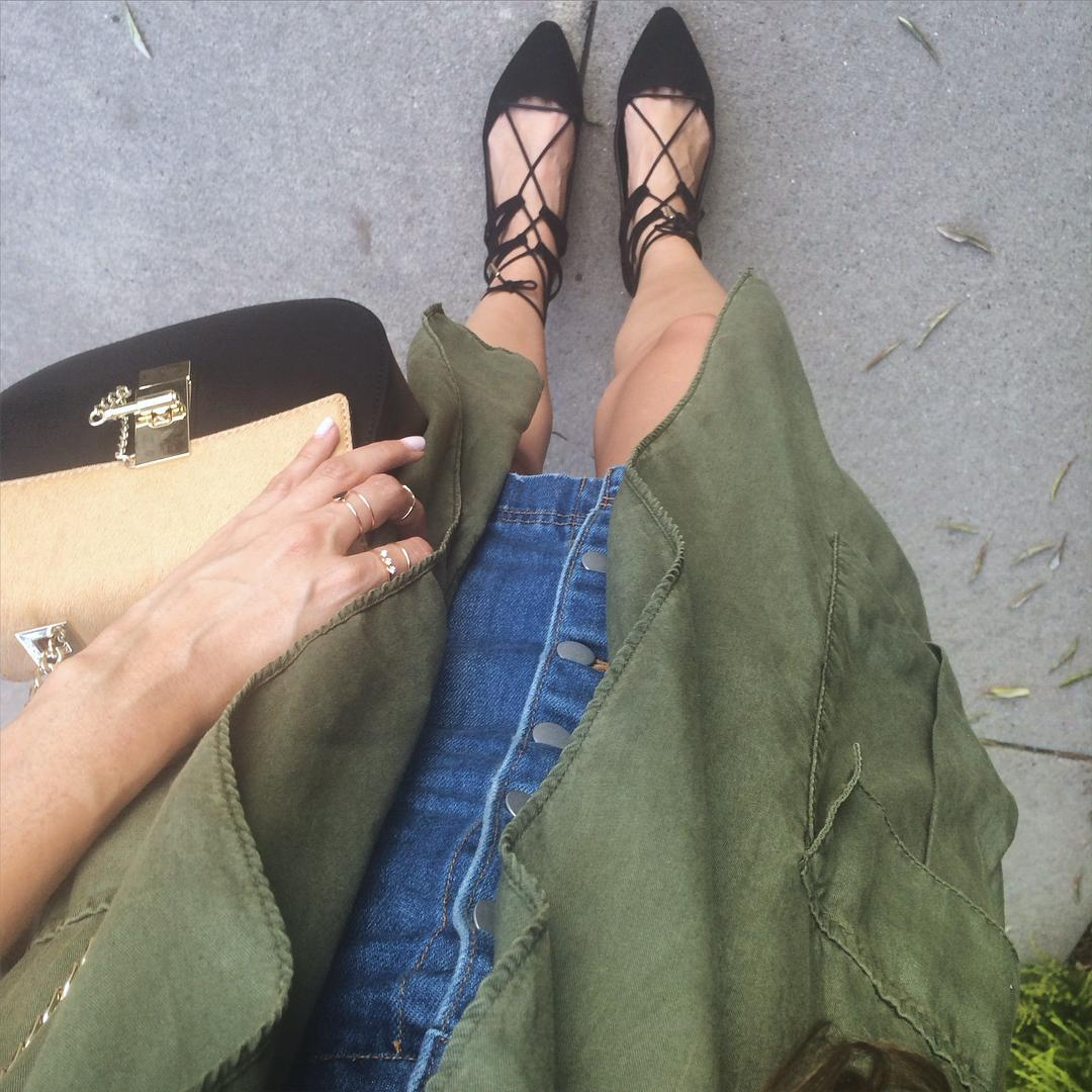 Looks to Love : Lace up Flats