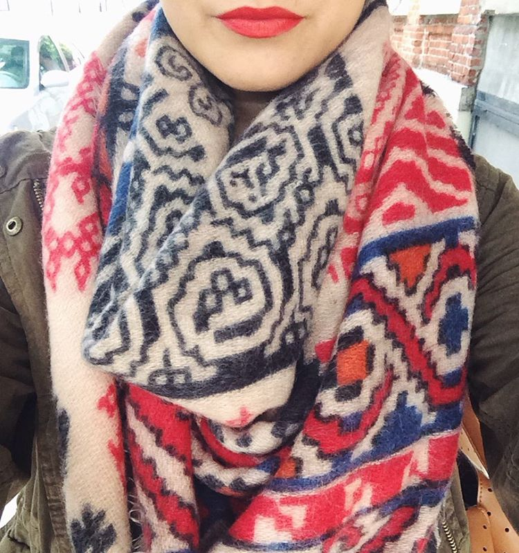 Looks to Love: Blanket Scarf