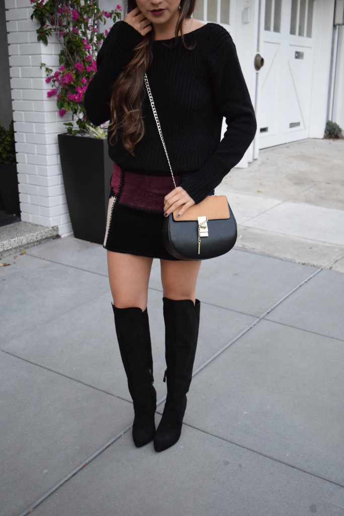 Suede Mini Skirt Otk Boots Girl About Town