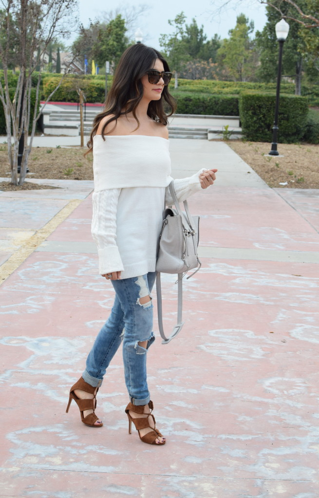 slouchy-sweater-white-lace-up-heels
