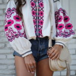 Embroidered Jacket + Denim Cutoffs