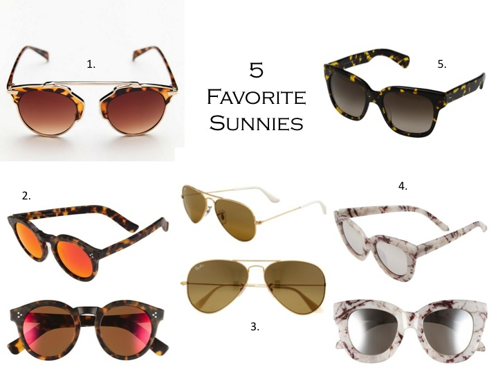 Friday's Five: Favorite Sunnies