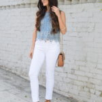 White Denim + Eyelet