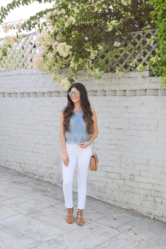 white-denim-eyelet-top