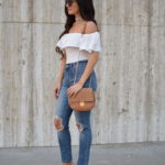 Ruffle Bodysuit + High Rise Denim