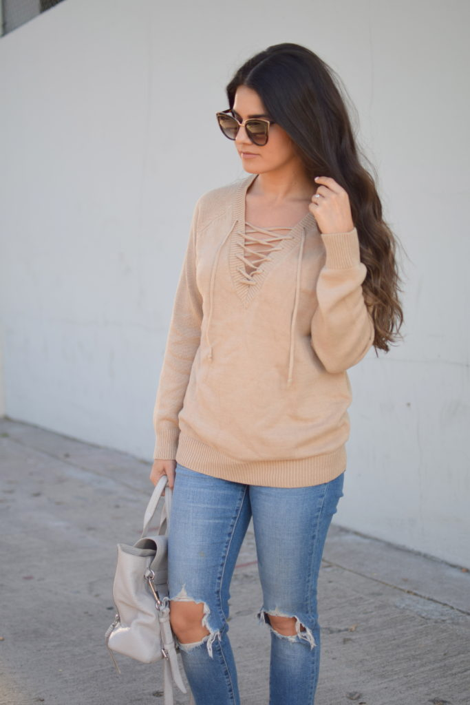 camel-lace-up-sweater