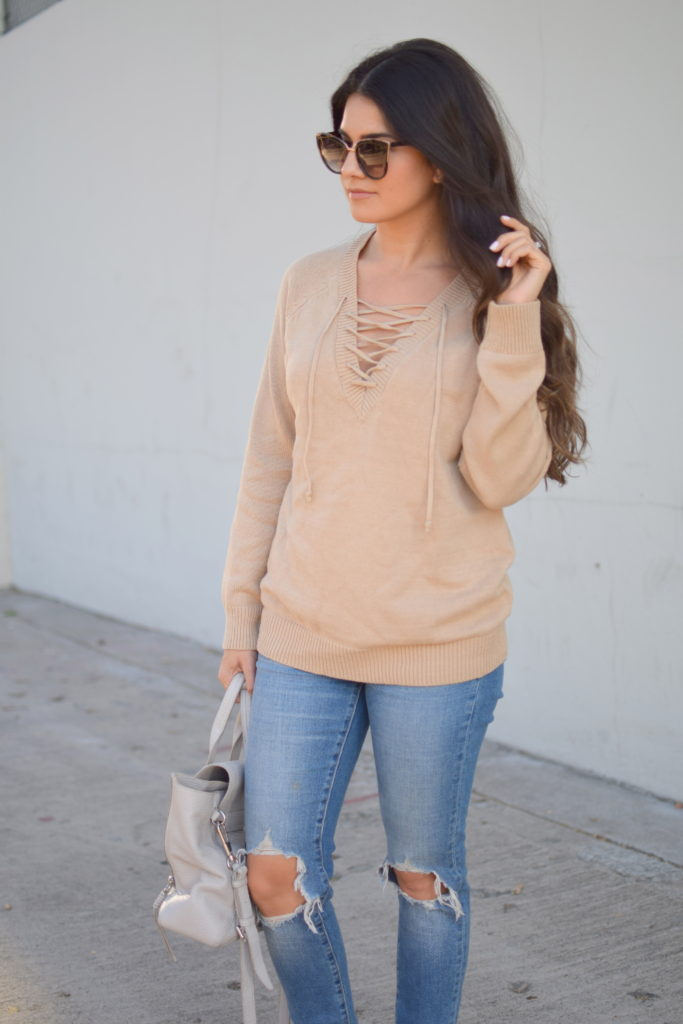 thanksgiving-lace-up-sweater-outfit