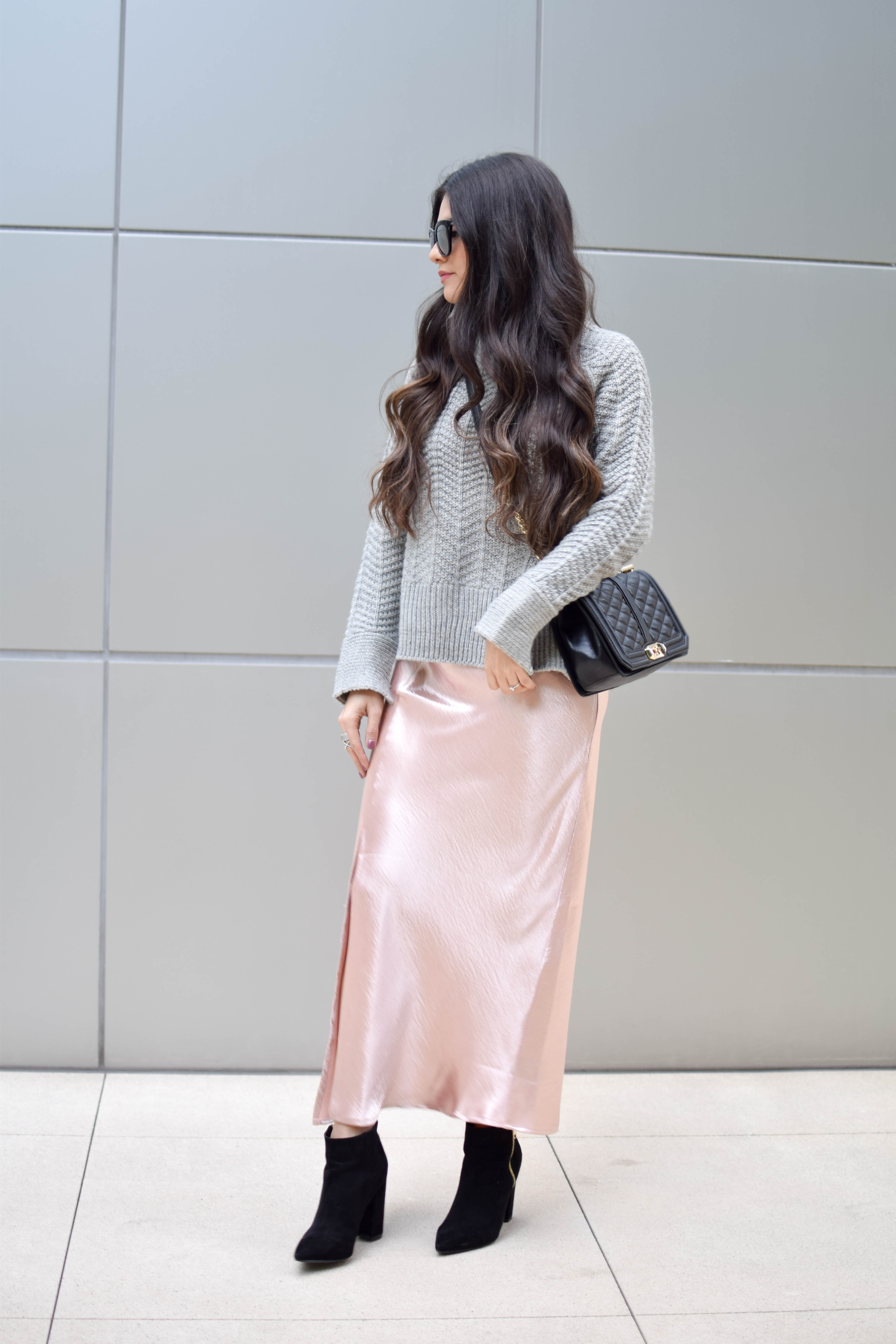 Silky Slip + Cozy Sweater