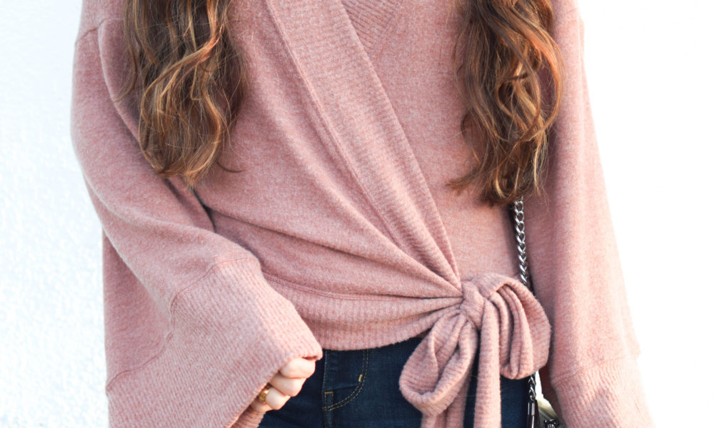 Wrap Top & Casual Valentine's Day Outfit
